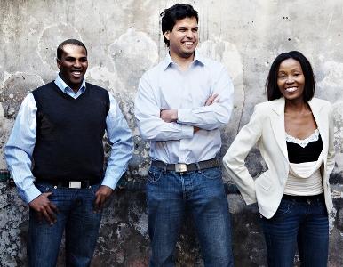 Founders of Yeigo: Lungisa Matshoba, Wilter du Toit and Rapelang Rabana